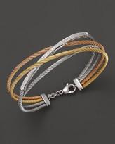"""Charriol Classique"""" Tri Color Diamond Bar Bracelet"""
