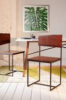 Urban Outfitters Live Edge Wood Dining Chair Set