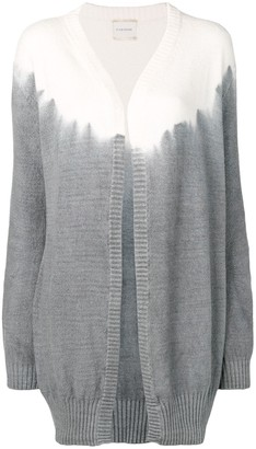 Fine Edge Tie-Dye Effect Cardigan