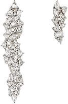 Monique Péan Women's White Diamond Mismatched Drop Earrings