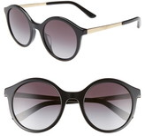 Dolce & Gabbana 51mm Gradient Round Sunglasses