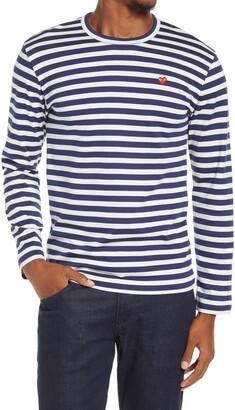 Comme des Garcons Stripe Long Sleeve Cotton T-Shirt
