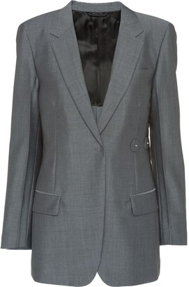 Prada Asymmetric Button Blazer