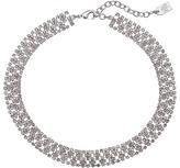 "Lauren Ralph Lauren 12"" Rhinestone and Gold Choker Necklace"