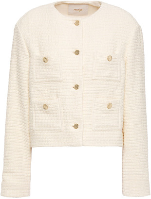 Maje Cotton-tweed Jacket