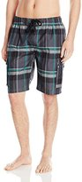 Kanu Surf Men's Matrix Plaid Swim Trunk