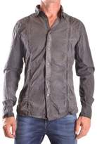Bikkembergs Men's Grey Cotton Shirt.