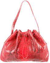Nancy Gonzalez Python Drawstring Hobo