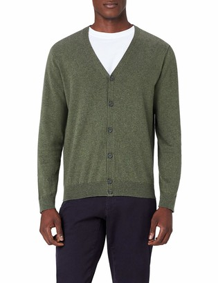 Meraki Men's Lightweight Cotton V Neck Cardigan Sweater
