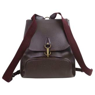 Louis Vuitton Burgundy Leather Backpacks