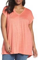 Sejour Plus Size Women's Linen Knit Tunic