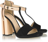 Reed Krakoff Suede, leather and acetate sandals