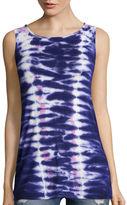 BELLE + SKY Tie Dye Twist Back Tank Top