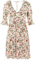 Topshop Floral Crinkle Mini Skater Dress