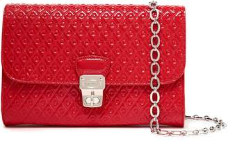 Tod's Embossed Patent-leather Shoulder Bag