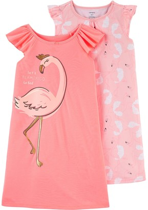 Carter's Toddler Girl 2 Pack Flamingo Nightgowns