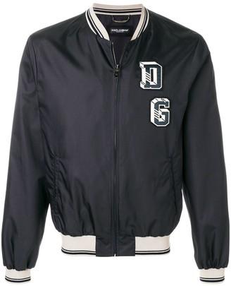 Dolce & Gabbana Logo Patch Bomber Jacket