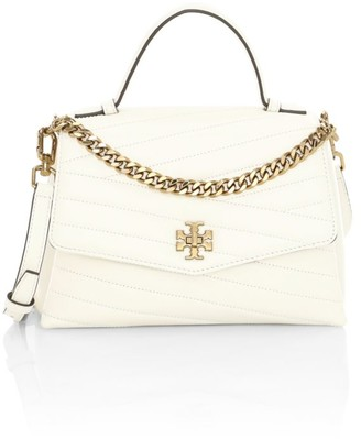 Tory Burch Small Kira Chevron Leather Top Handle Bag