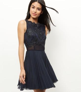 New Look AX Paris Lace Crochet Skater Dress