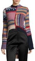 Alexander McQueen Fair Isle Patchwork Sweater, Multi