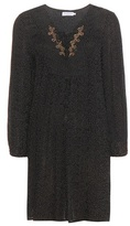Velvet Sloane Embroidered Crêpe Tunic Dress