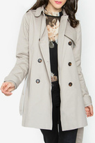 Sugar Lips Beige Trench Coat