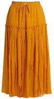 Apiece Apart Dulce drawstring silk-chiffon midi skirt
