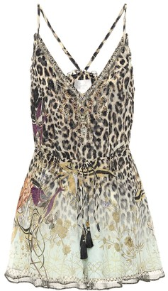 Camilla Printed silk playsuit