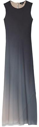 Theory Sleeveless Ombre Bias Silk Slip Dress