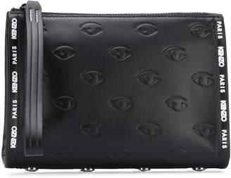 Kenzo Multi-Eye embossed clutch bag