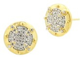 Freida Rothman Women's Visionary Fusion Pave Stud Earrings