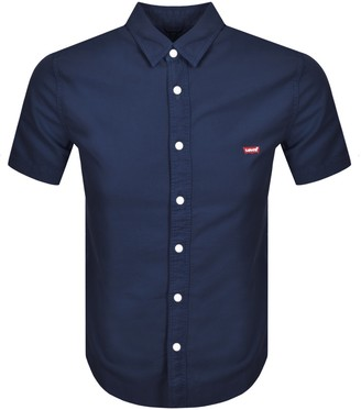Levi's Levis Battery Slim Fit Short Sleeved Shirt Navy