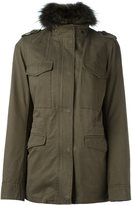 Army Yves Salomon detachable fur-collar field jacket