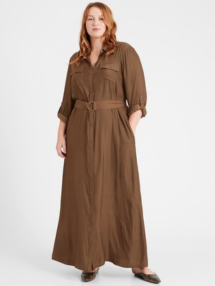Banana Republic Utility Maxi Shirtdress