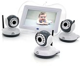OEM Digital Wireless Baby Monitor,3X Cameras-7 Inch Display, 1/4 Cmos, Night Vision