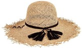 San Diego Hat Company Women's Open Weave Seagrass Floppy Hat SGF2016
