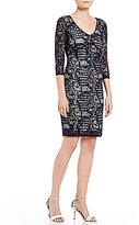 Marina V-Neckline Lace Dress