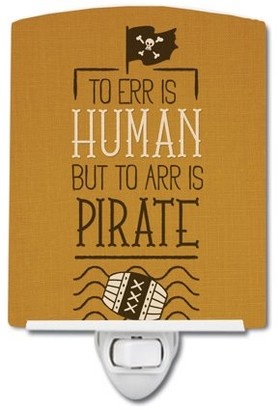 Caroline's Treasures To Err is Human to Arr is Pirate Ceramic Night Light
