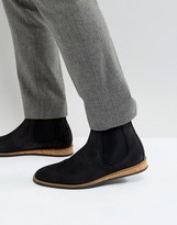 Zign Suede Chelsea Boots With Cork Detail