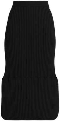 Jil Sander Ribbed Wool-blend Midi Skirt