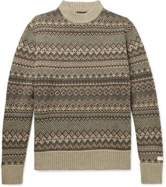 Aimé Leon Dore Fair Isle Wool-Blend Sweater - Men - Brown