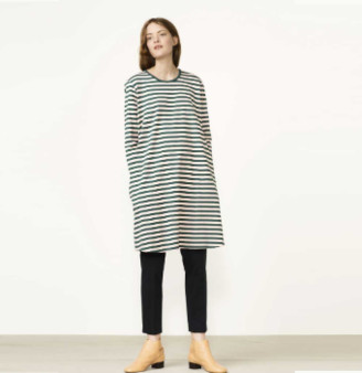 Marimekko Green and Pink Stripes Aretta Dress - L/42
