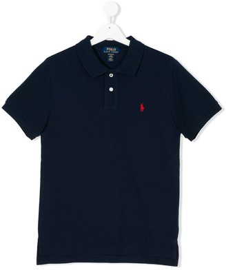 Ralph Lauren Kids Teen logo patch polo shirt