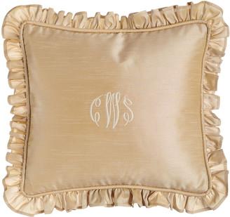 "Sweet Dreams Elizabeth Ruffled Champagne Pillow, 16"" x 18"""
