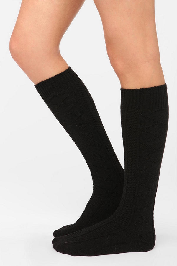 Urban Outfitters Cozy Textured Knee-High Sock