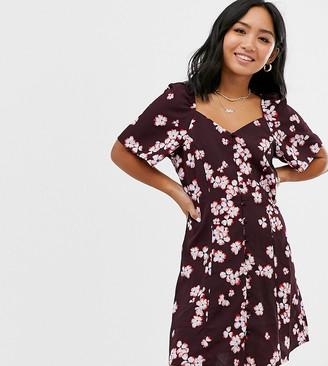 Vero Moda Petite square neck floral button thru dress