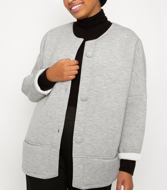 New Look Till We Cover Scuba Cocoon Jacket