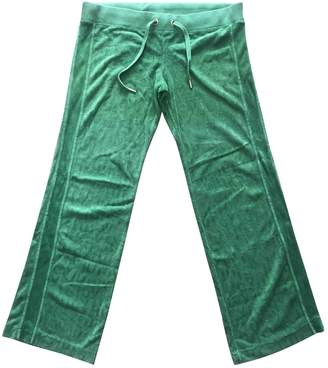 Juicy Couture Green Cotton Trousers for Women