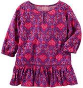Osh Kosh 2-Piece Printed Ruffle-Hem Dress