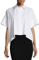 Alice + Olivia Edyth High-Low Short-Sleeve Shirt